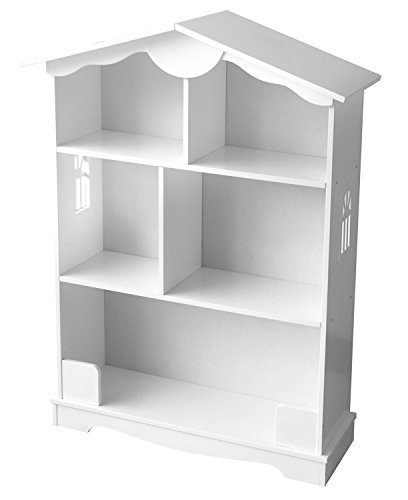 Meuble De Rangement La Petite Maison Couleur Blanche Pour Jouets et Livres Chambre d'Enfant Un Motif Unique Maison de Poupée Meuble En Forme De Maison