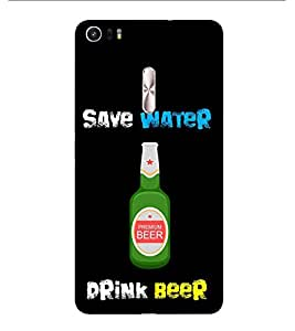 HiFi Designer Phone Back Case Cover Asus Zenfone 3 Ultra ZU680KL (6.8 Inch Phablet) ( Save Water Drink Beer )