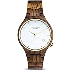 Oakmont Timepieces 'Monaco' mens/womens wooden watch. Display/ gift box & 12 month warranty included.