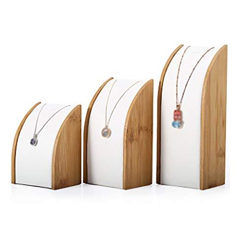 Schmuckständer Display Frame Bambus geschwungene Halskette Display Stand dreiteilig (Farbe: 3)