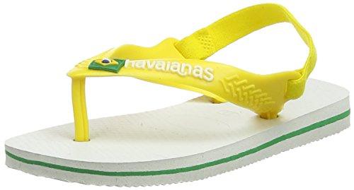 Havaianas Unisex Baby Brasil Logo II Sandalen, Weiß (White/Pollen Yellow), 27/28 EU