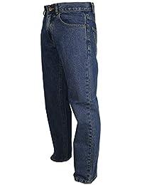 Mens Comfortable RV Basic Stonewash Blue/ Indigo Jeans Plain Sizes 30-48 Leg 27, 29, 31, 33
