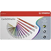 STABILO CarbOthello Pastel Pencil Set - Pack of 12 (Multicolour)