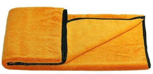 Glart 44WG Watergate super-saugfähiges Mikrofaser Auto Trockentuch, orange, Microfasertuch f. Autopflege, 90x60 cm