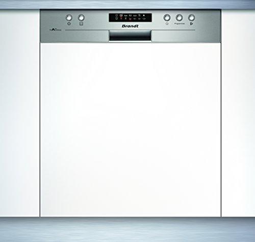Brandt VH1505X Semi intégré 13places A++ lave-vaisselle - Lave-vaisselles (Semi intégré, Taille maximum (60 cm), Acier inoxydable, boutons, 1,5 m, 1,5 m)