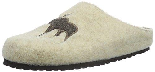 softwaves Damen Hausschuh Pantoffeln, Elfenbein (120 Offwhite), 39 EU