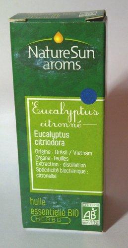 Naturesun aroms - Huile essentielle d'eucalyptus citronné Bio - Flacon 10 ml
