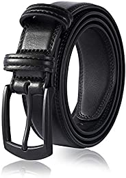Men's Genuine Leather Dress Belt, Handmade, 100% Cow Leather, Fashion & Classic Designs for Work Busin