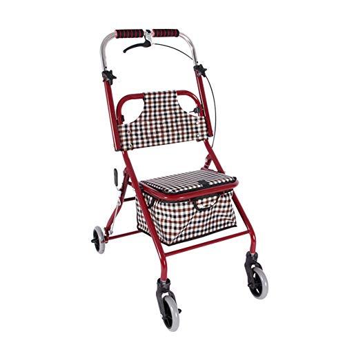 III- Medline Rollator Walker mit Sitz und Rädern, klappbarer Walker für Senioren mit antimikrobiellem Microban-Schutz, robuster Stahlrahmen für bis zu 150 kg