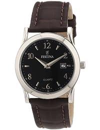 Festina F16521/6 - Reloj analógico de cuarzo para mujer con correa de piel, color marrón