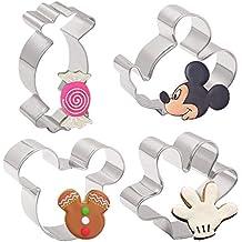 Juego de cortadores de galletas para niños de 4 piezas - Cabeza de Mickey Mouse,