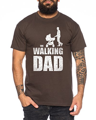 The Walking Dad Herren T-Shirt Braun