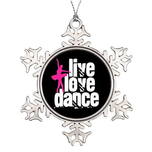 JeremyHar75 Dekofiguren für Tanz mit Ballerina-Schneeflocken, Zinn, witzige Weihnachtsbaum-Dekorationen, Ornamente