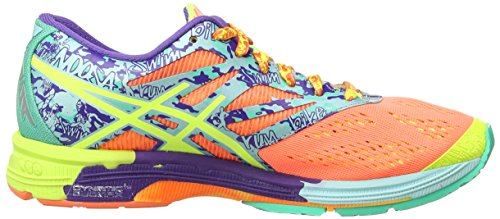 ASICS Gel-Noosa Tri 10, Chaussures Multisport Outdoor Femmes Rouge (Flash Coral/Flash Yellow/Ice Blue 2307)