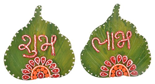 999Store Handmade multicolour wooden ganesha shubh labh diwali door hanging  available at amazon for Rs.299