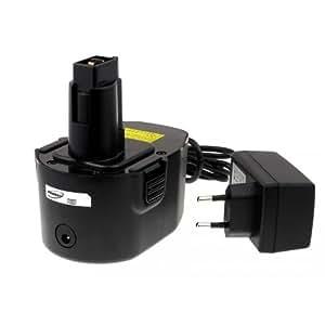 Batterie pour Black & Decker perceuse visseuse KC1462F Li-Ion Chargeur incl.