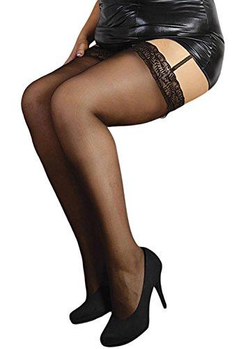 Andalea Damen Strümpfe Plus Size schwarz (Plus Size Fancydress)