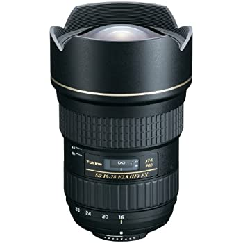 Tokina AT-X Pro 16-28mm f/2.8 FX - Objetivo para Nikon (distancia focal 16-28mm, apertura f/2.8) color negro