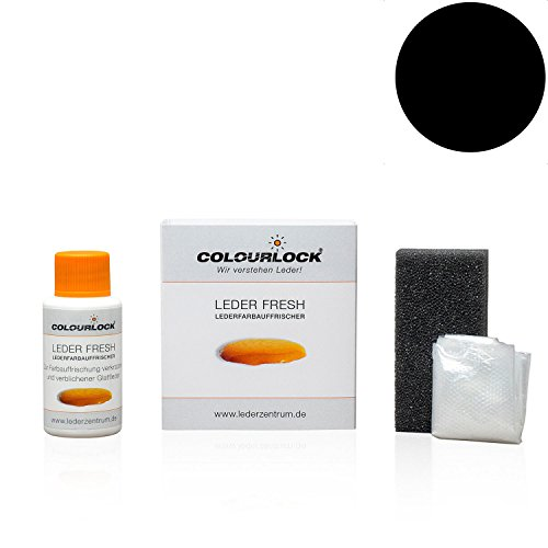 COLOURLOCK Leder Fresh Tönung Mini 30 ml F-Standard-Farbe F034 schwarz (Lederfarbe, Farbauffrischung), beseitigt Schrammen, Ausbleichungen und Abnutzung an Leder und Kunstleder - Schwarze Exotische Mini