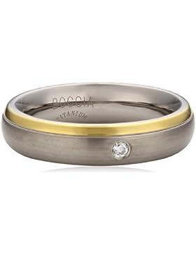 Boccia Damen-Ring Titan Diamant (0.03 ct) Brillantschliff, weiß, 0130