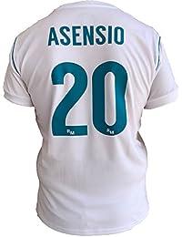 Rogers SL - REAL MADRID Camiseta Jersey Futbol ASENSIO 20 Replica Autorizado 2017-2018 Niños
