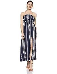 Stalk Buy Love Women s Striped Julissa Off Shoulder Maxi Dress ac2ed792a