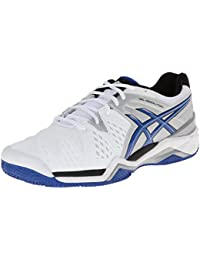 Zapato de tenis de arcilla Clay-Resolution 6 Clay Court, Blanco / Azul / Plateado, 8 M US