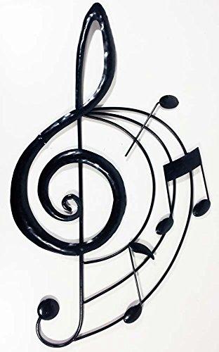 Wall art - scultura da parete - wall art contemporaneo in metallo - chiave di violino con pentagramma e note