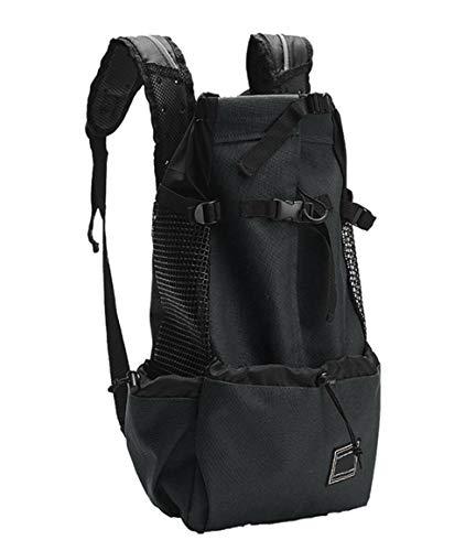 GLEYDY Hunderucksack für mittelgroße kleine Hunde, Komfortrucksack-Tragetasche, Einstellbare Taschenöffnung, Weiche Seite, atmungsaktives Netz für Reisen Camping Wandern Motorrad und Fahrrad,003,M