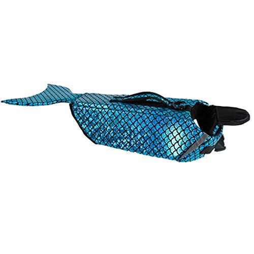 JKRTR Sommer Hunde Katze kleidet 2019,Schwimmweste Schwimmhilfe Weste Kostüm Kleidung(Blau,M)