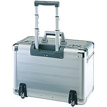 Pilot Maleta de aluminio con compartimento para portátil acolchado para aprox. 4carpeta con candado y forro interior textil