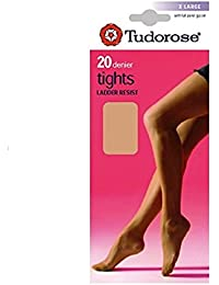 3, 6, 12 Pairs Tudorose 20 Denier Run Ladder Resist Tights M, L, XL 8 Colours With Gusset on Larger Sizes