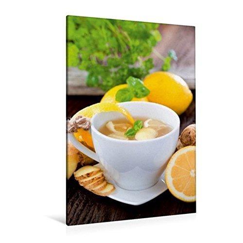 Premium Textil-Leinwand 80 cm x 120 cm hoch, Ingwer-Zitronen-Tee | Wandbild, Bild auf Keilrahmen, Fertigbild auf echter Leinwand, Leinwanddruck: Ein - Rezeptkalender (CALVENDO Gesundheit) (Zitronen-kräuter-tee)