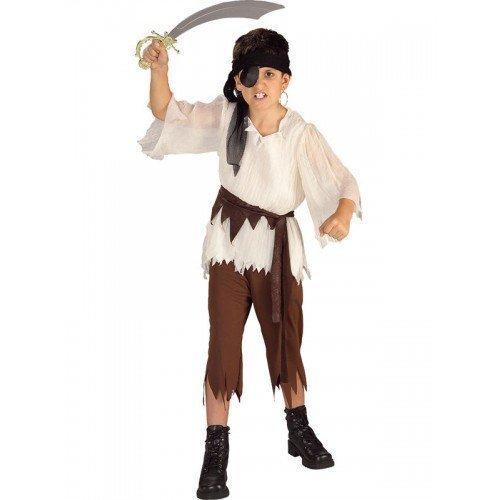 bik Raggy Piraten büchertag Halloween Party Kostüm Kleid Outfit - Multi, 3-4 Years (Piraten Kostüme Taille Schärpe)