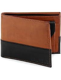 Laurels Men's Wallet Tan & Black-ML-0801