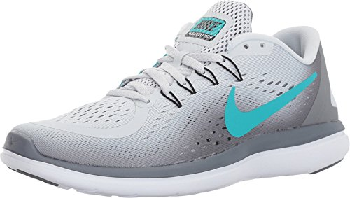 Nike Damen Flex 2017 Rn Laufschuhe, Grau (Pure Platinum/clear Jade-cool Grey Black), 40 EU
