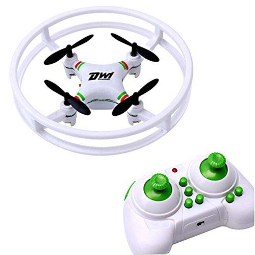J - NEGOZIO Drone, Giocattolo Drone Aereo Telecomandato Aereo, Mini Super Resistente Nano Ufo Drone Space Trek 2.4ghz 4 Assi 4ch Rc Quadcopter (Bianco)