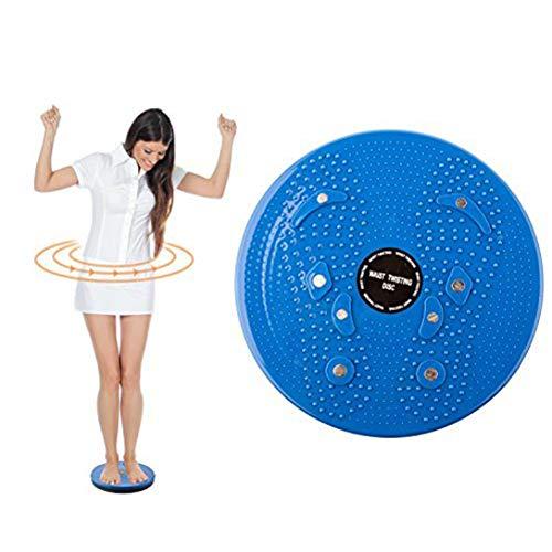 TRIXES Disco Twist per Gli Esercizi di Torsione di Vita e Fianchi - per Il Fitness e L'allenamento - Colore Blu - della Vita di Torsione - per Esercizio Aerobico