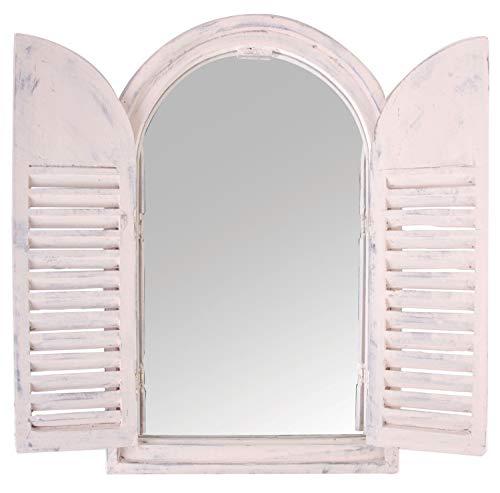 Espejo con puertas madera