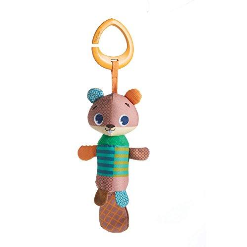 Albert Plüsch (Tiny Love - Baby Spielzeug Tiny Smarts Albert Beaver, Windspiel für Babyschale, Kinderwagen und unterwegs, ab der Geburt (0M +), erzeugt schöne Windspiel-Töne, mehrfarbig)