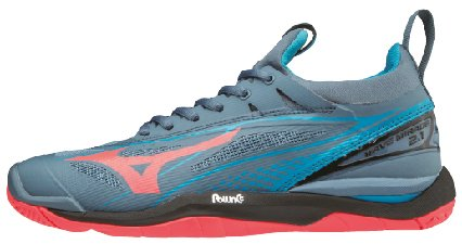 Mizuno Damen Wave Mirage 2.1 Sneakers Mehrfarbig (Bluemirage/Fierycoral/Bl 001) 41 EU