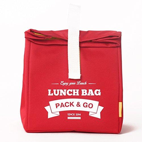 Pranzo borsa unisex Lunch Box L. sacchetto di picnic lavabile. Sandwich e borsa a scuola per merenda o al lavoro. Scatola a aliments. Sacchetti a Lunch rosso (Violet) Red