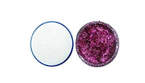 Snazaroo Professional White Face & Body Paint Compact And Face & Body Glitter Gel Set-Fuchsia Pink