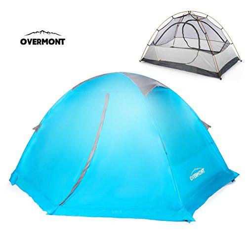 Overmont 1-2 Personen 4 Jahreszeiten Trekkingzelt Zelt Familienzelt Campingzelt Zelte