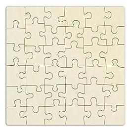 Kopierladen Puzzle di Legno Personalizzabile da dipingere, Puzzle Vuoto di Legno, 36 Pezzi, Legno Compensato Non trattato – Varie Dimensioni