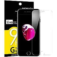 Verre Trempé iPhone 7, iPhone 8, NEWC® Film Protection écran - ANTI RAYURES - SANS BULLES D'AIR -Ultra Résistant (0,33mm HD Ultra transparent ) Dureté 9H Glass pour iPhone 8, iPhone 7