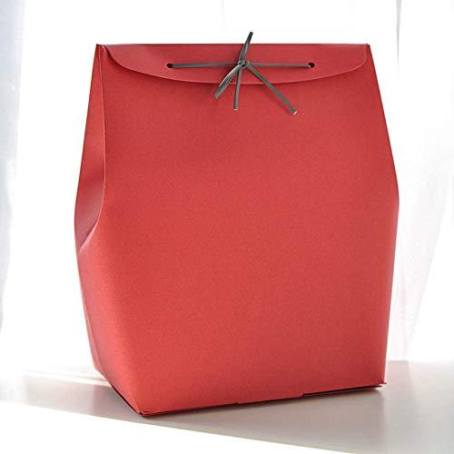 LIUQIAN La Couleur Pure Valentin boîte Anniversaire boîte Cadeau Coffret Mariage Grand Sac en Papier Carton capacité 18 * 11,5 * 24. 5 cm