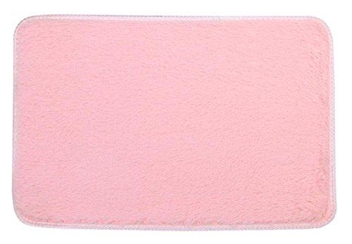 Wand Montiert Matte-plattform (sunnymi Mode Weiche Kurze Flauschige Teppiche, Rutschfeste Shaggy Bereich Teppich, Esszimmer Home Schlafzimmer Rechteckige Teppich Matten Stock (40*60cm, Rosa))