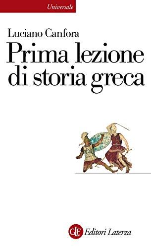 Prima lezione di storia greca (Universale Laterza. Prime lezioni)