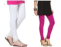 Roop Trading Co girls cotton material, churidar full length legging style, Magenta-white colour size available- XL,XXL,XXL